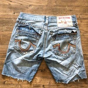 Men's True Religion Distressed Denim Shorts